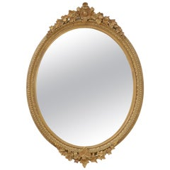 Elegant Victorian Giltwood Wall Mirror