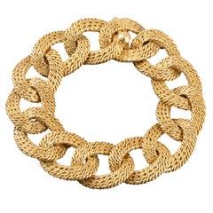 Elegant Vintage French Gold Bracelet