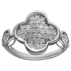 Elegant White Diamond White Diamond Gold 18 Karat Romantic Ring