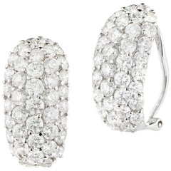 Elegant White Gold Diamond Earring