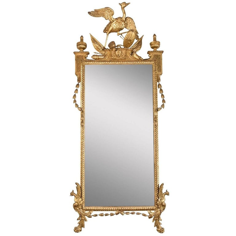Elegant, Early 19th Century, Italian, Giltwood Mirror