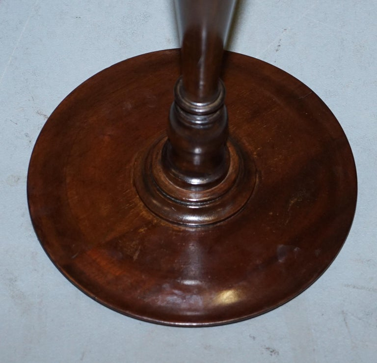 Elegantly Carved Antique Mahogany Tripod Lamp Side End Wine Table Great Plants For Sale 5