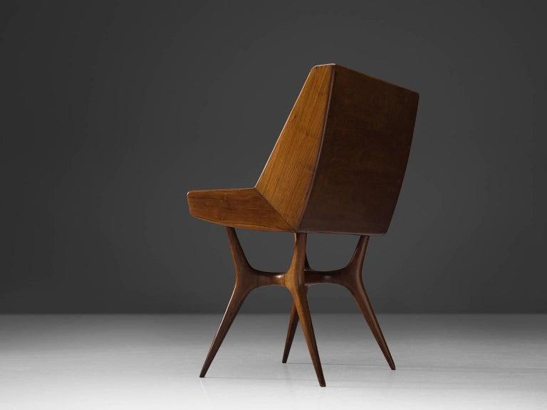 Mid-Century Modern Italian Secretary in Wood For Sale