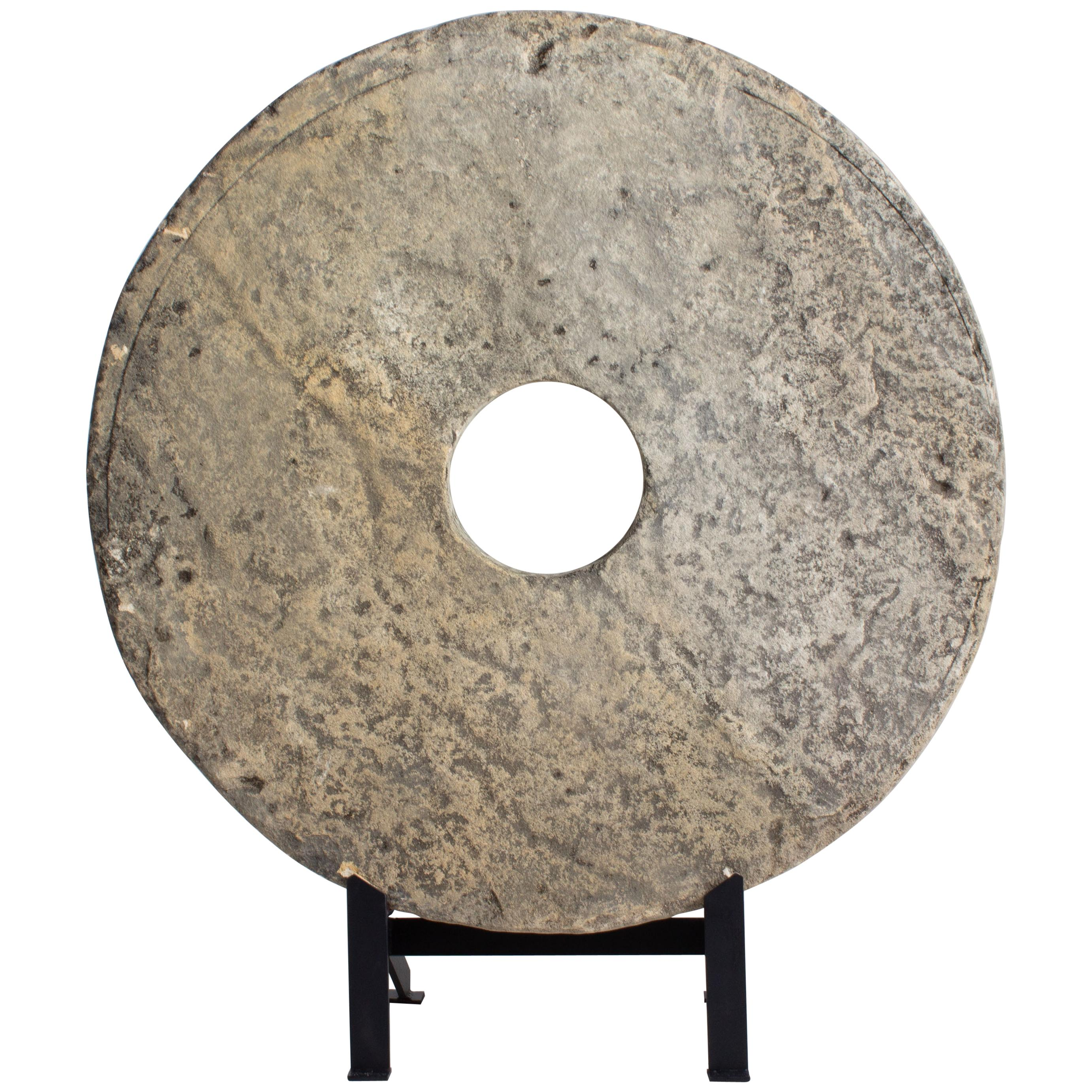 Large Chalkstone Architectural Element on Steel Mount