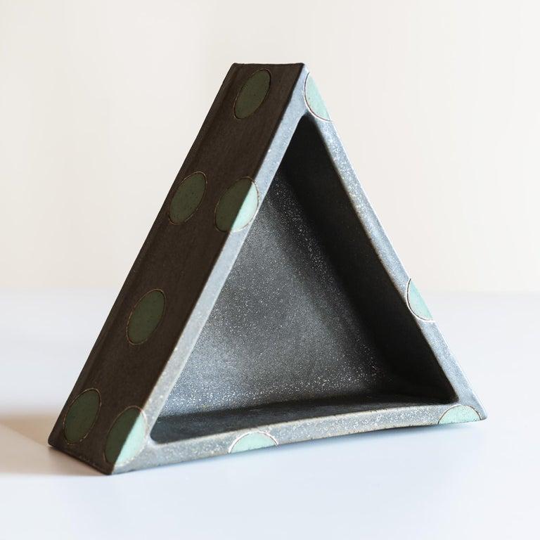 Elemental Triangular Polka Dot Vessel by Matthew Ward, New Mexico, 2019 In New Condition In Santa Fe, NM
