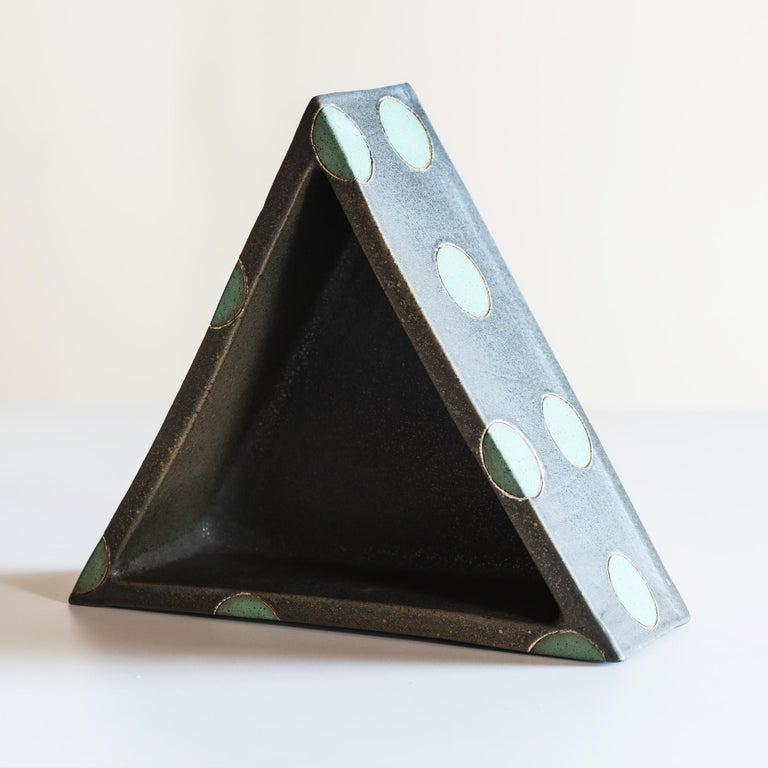 Contemporary Elemental Triangular Polka Dot Vessel by Matthew Ward, New Mexico, 2019