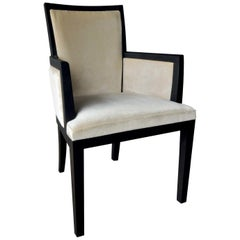 Elementare 4 White Chair with Armrests