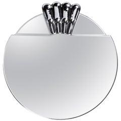 Elemento TRE Medium Glass Carved Murano Mirror by Portego