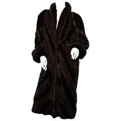 Elena Benarroch double coloured brown sheared mink coat