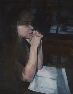 """""""Halfway,"""" Oil painting"""