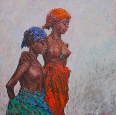 Black Beauties I, Painting, Oil on Canvas