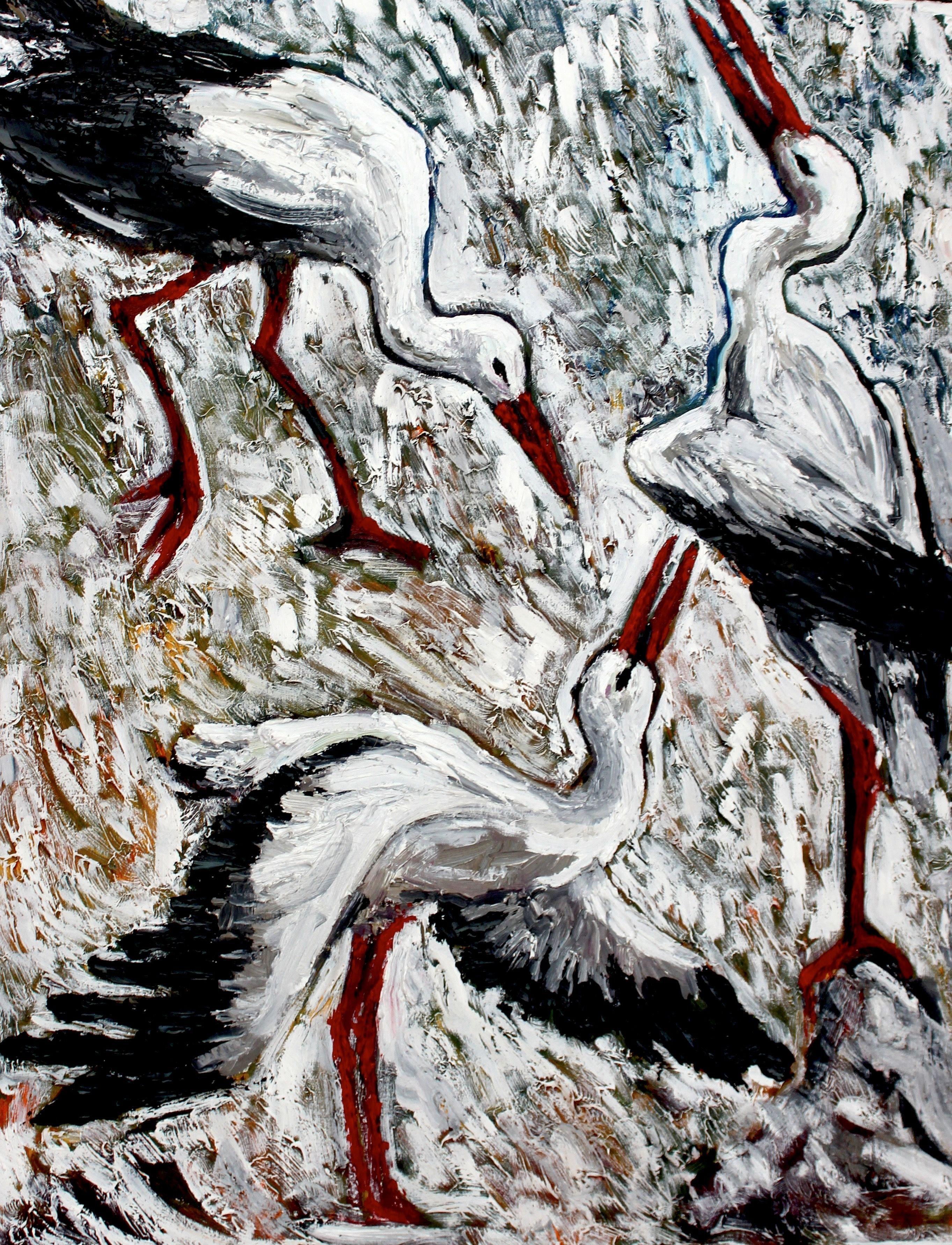 Srorks, Painting, Oil on Canvas