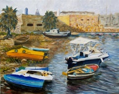 Boats haven, Painting, Oil on Canvas
