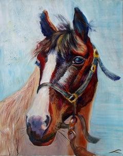 Horse portrait, Painting, Oil on Canvas