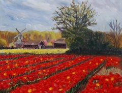 Spring in Holland, Painting, Oil on Canvas