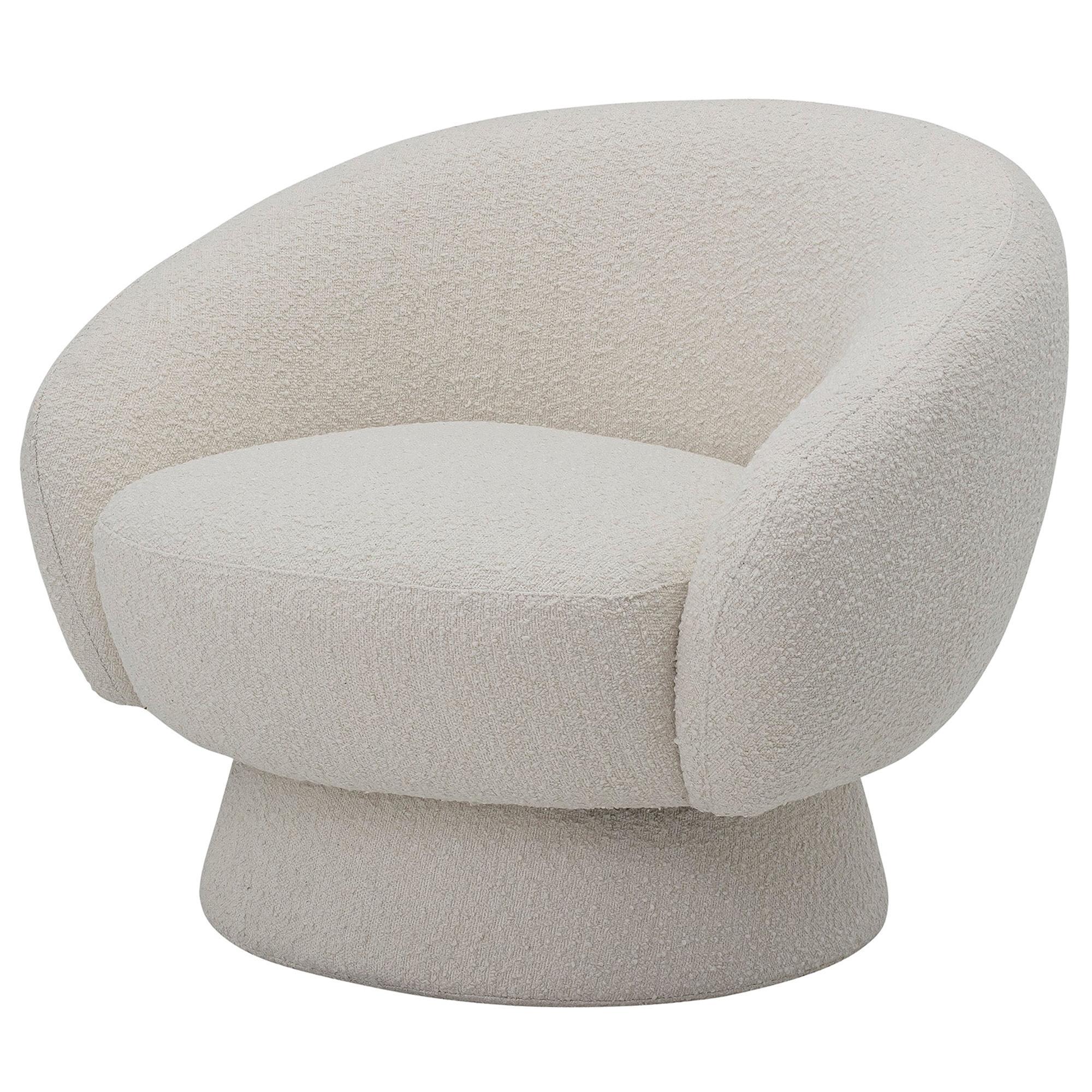 Elephant Club Circular Base Curved Lounge Chair