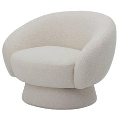 Elephant Club Circular Base Curved Lounge Chair