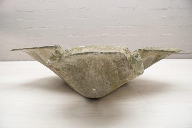 Cement Elephant Ear Planter by Willy Guhl for Eternit Switzerland, 1950s For Sale