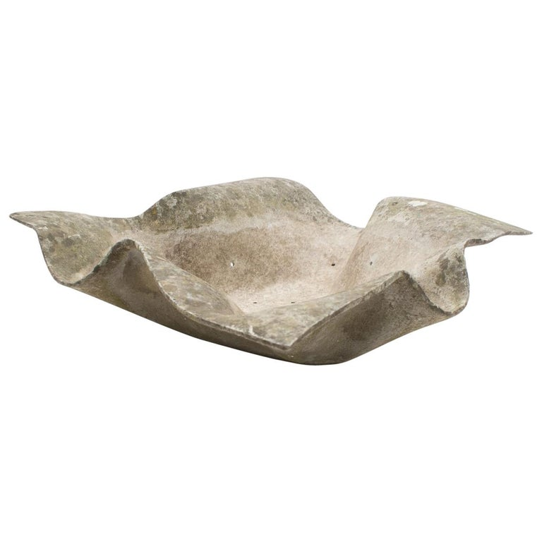 Elephant Ear Planter by Willy Guhl for Eternit Switzerland, 1950s For Sale