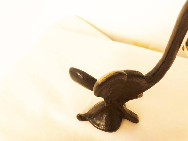 Blackened Elephant Figurine with Thermometer by Walter Bosse For Sale