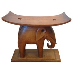 Elephant Form Ashanti Bench