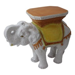 Elephant Form Terracotta Garden Stool or Drinks Table