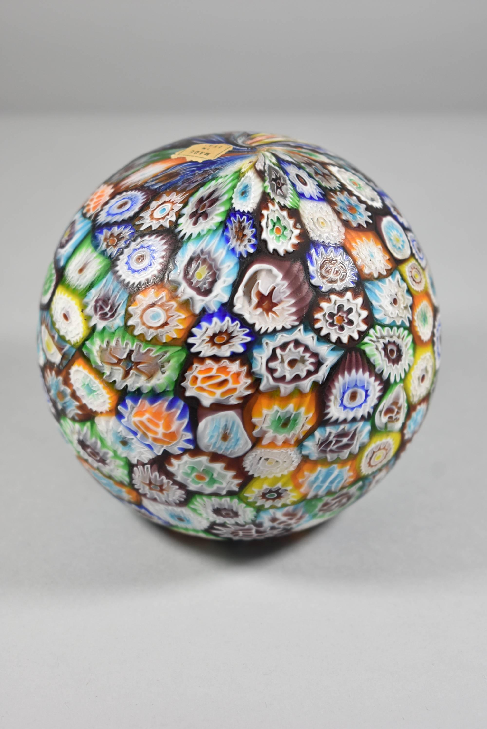Elephant Single Socket Table Lamp Italian Murano Millefiori Glass Shade Globe At 1stdibs