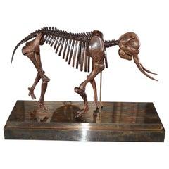 Elephant Skeleton Hand Carved Sculpture