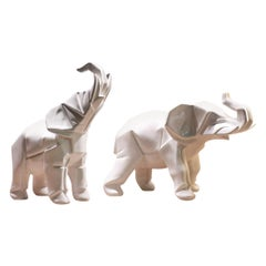 Elephants Set of 2 Sculpture