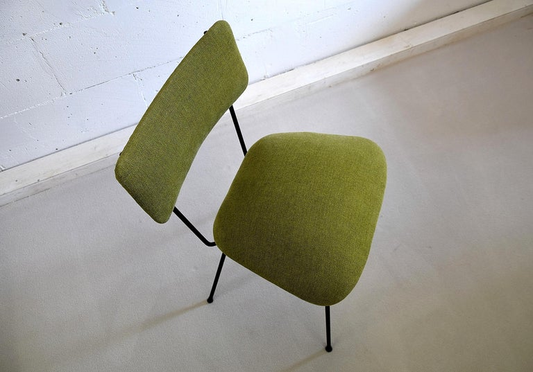Upholstery Elettra by Studio BBPR for Arflex Green Mid Century Modern Chair For Sale