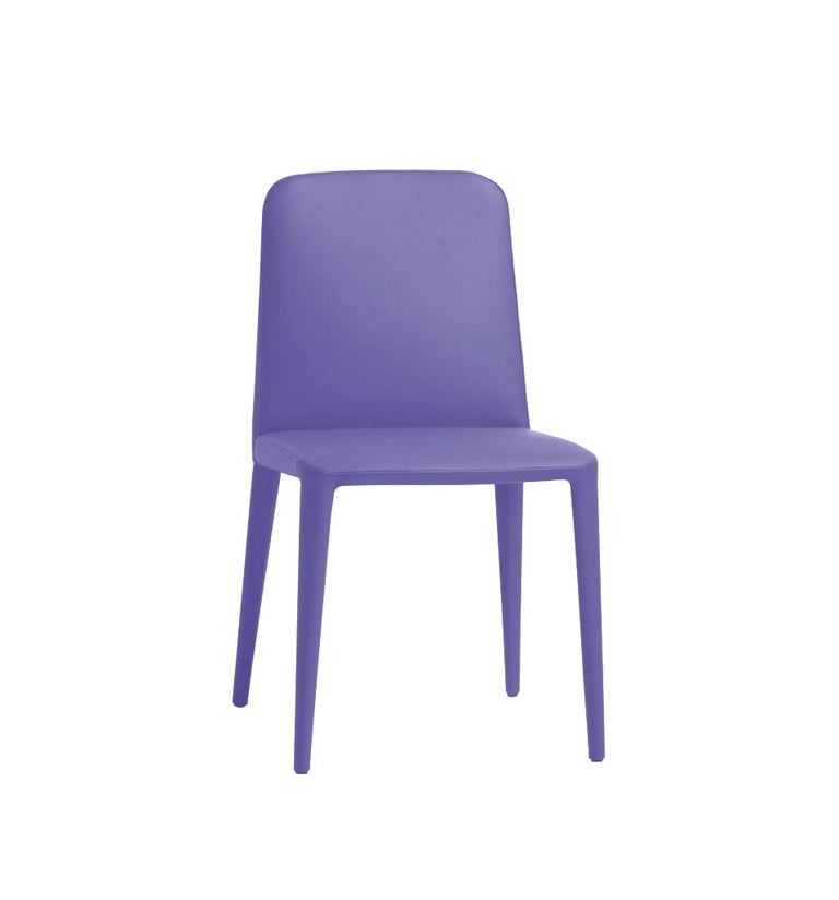 Modern Elf Blue Leather Dining Chair, by Gordon Guillaumier, in Stock in Los Angeles For Sale
