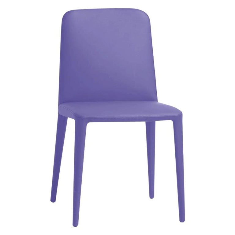 Elf Blue Leather Dining Chair, by Gordon Guillaumier, in Stock in Los Angeles For Sale
