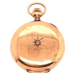 Elgin 14 Karat Gold and Diamond Pocket Watch
