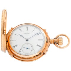 Elgin 14 Karat Yellow Gold Hinge Pocket Watch