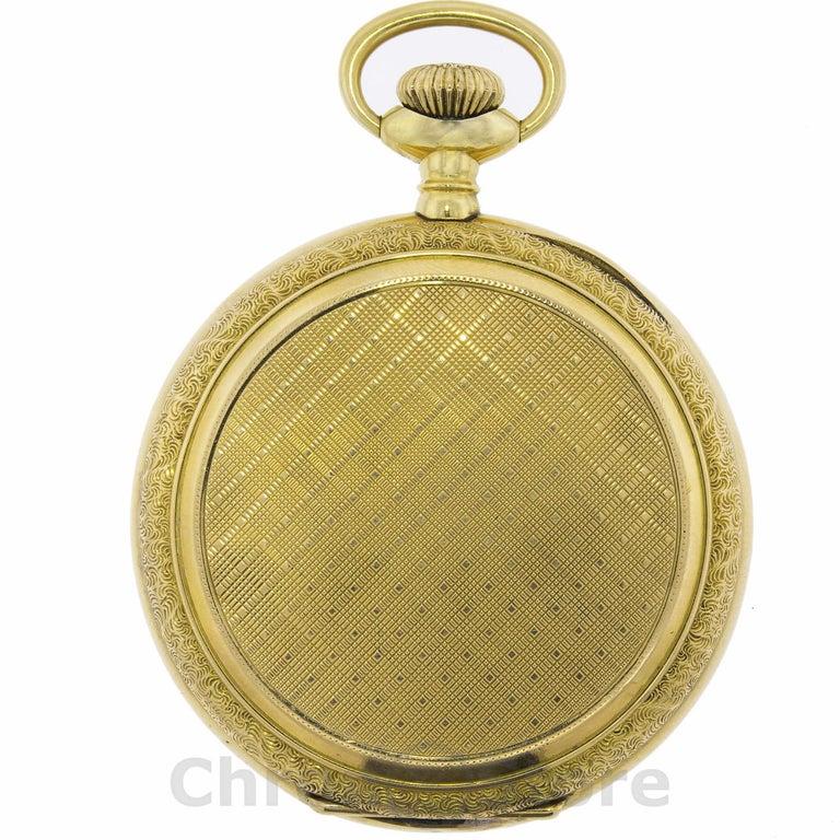 Elgin 14 Karat Yellow Gold Vintage Hand Wind Men's Pocket Watch Weight 110.53gm In Good Condition In New York, NY