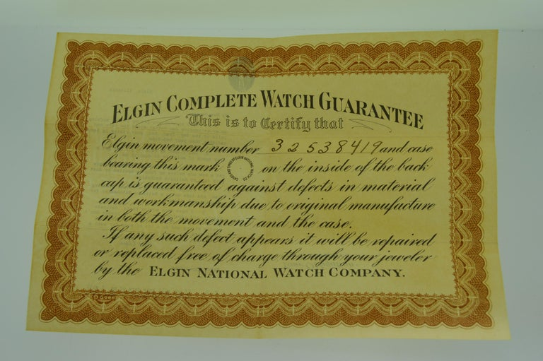 Elgin Chromium New Old Stock in Original Box From 1928 For Sale 6