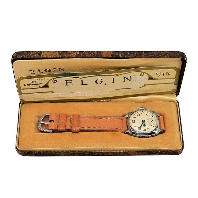 Elgin Chromium New Old Stock in Original Box From 1928 For Sale