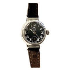 Elgin General Pershing 1919 Sterling Silver Cased Trench Style Wristwatch