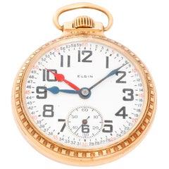 Elgin Gold Filled R.R. Case Manual wind Pocket Watch