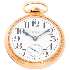 Elgin Gold filled Veritas Rail Road Manual Pocket Watch