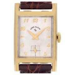 Elgin Lord Elgin 4532 14 Karat White Dial Manual Watch