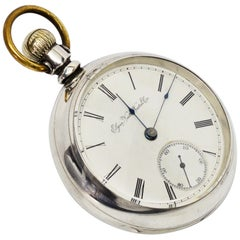 Elgin National Watch Co. Antique Pocket Watch with Gold Inlaid Back