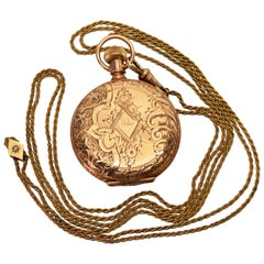Elgin National Watch Co Ladies Antique Pocket Watch with Chain Pendant Necklace