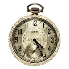 Elgin Watch Company Display Back Pocket Watch