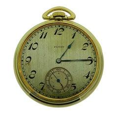 Elgin Gelb Gold gefüllte Art-Deco-Open konfrontiert Tasche neue alte Lager Uhrengehäuse