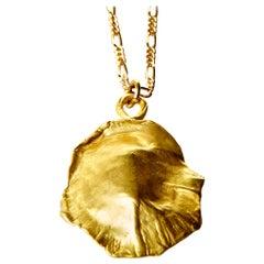 18 Karat Gold Ocean Shield Necklace