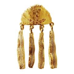 18 Karat Gold Sapphire Handcrafted Jellyfish Earring