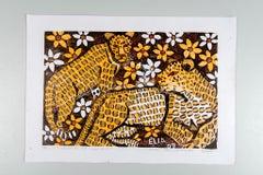 Leopards of Namibia, Elia Shiwoohamba, Cardboard print on paper