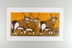 The Gemsboks, Elia Shiwoohamba, Cardboard print on paper