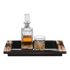 Elia Tray in Horn and Glossy Ebony, Mod. 4716